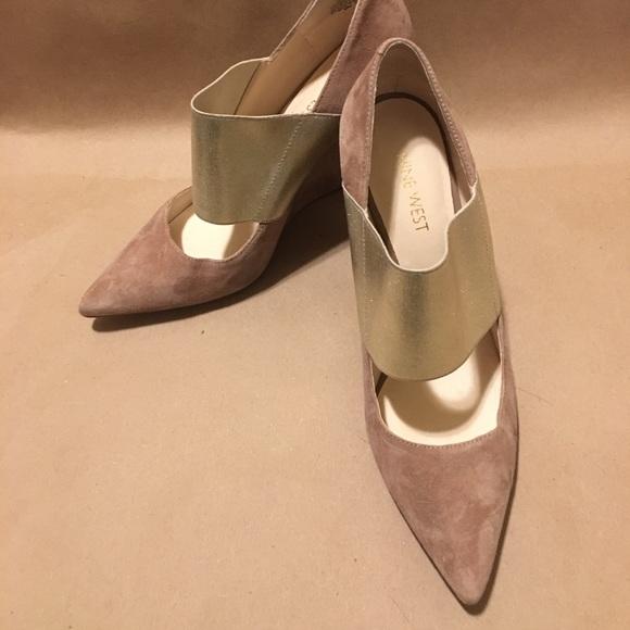 bb04c51cc0c8 M 5a9a491c3a112eaed717f0c6. Other Shoes you may like. Nine West Black Suede  Wedges
